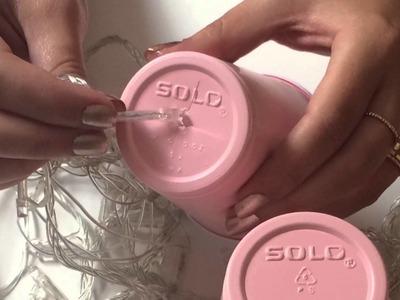 Paper cup string lights. Luces de vasos desechables #eltallerdelari