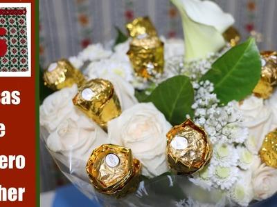 Rosas de bombones Ferrero Rocher
