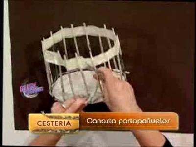 Silvina Buquete  - Bienvenidas TV - Realiza una canasta portapañuelos en cestería.