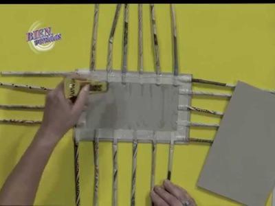 Silvina Buquete - Bienvenidas TV en HD - Realiza un costurero en cestería.