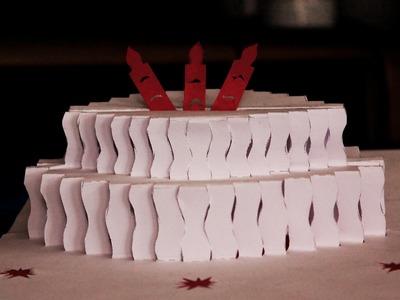 """Tarjeta Pop Up """"pastel de cumpleaños"""" (pie birthday)"""