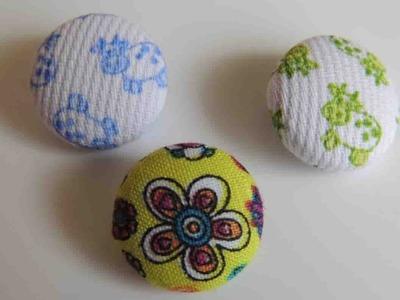 Tutorial Como forrar botones de tela. How to make fabric buttons.
