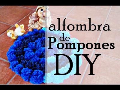 Alfombra de pompones DIY