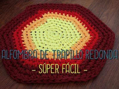 Alfombra de trapillo redonda - SUPER FACIL -