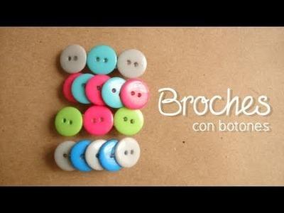 Broches con botones [FACIL + ORIGINAL]. accesorios para el cabello