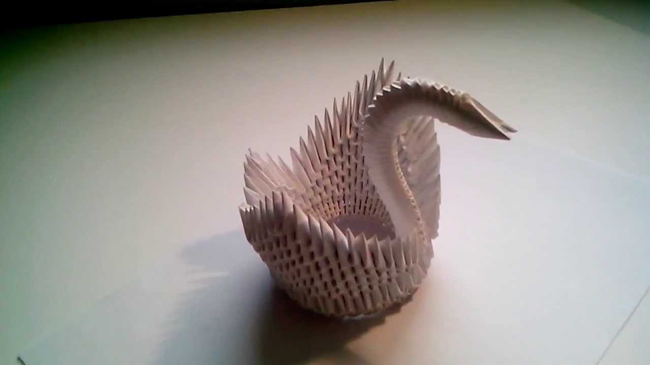 Cisne modular de papel (origami)