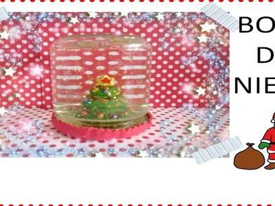 Como hacer una bola de nieve de navidad para niños_Manualidades DIY