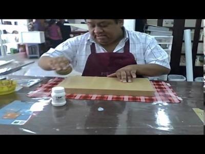 CUADRO RETABLO CON TEXTURAS