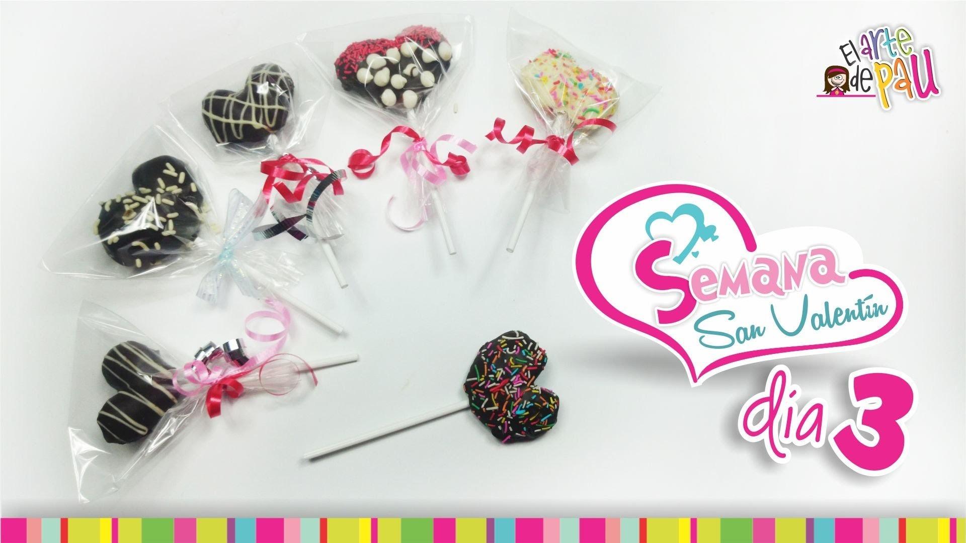 (Day 3) Strawberry Lollipop Valentine's Day. (Día 3) Paleta de fresa San Valentín