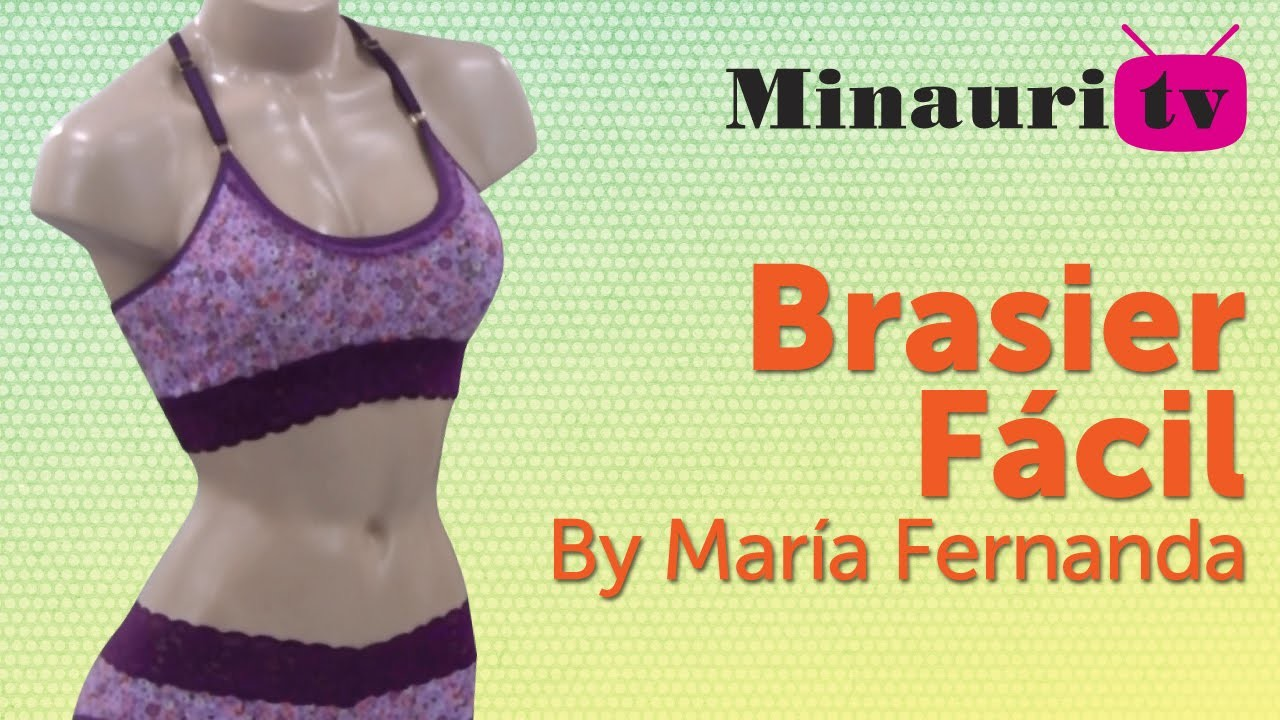 DIY - Brasier - Easy - Fácil by María Fernanda ( How to make )