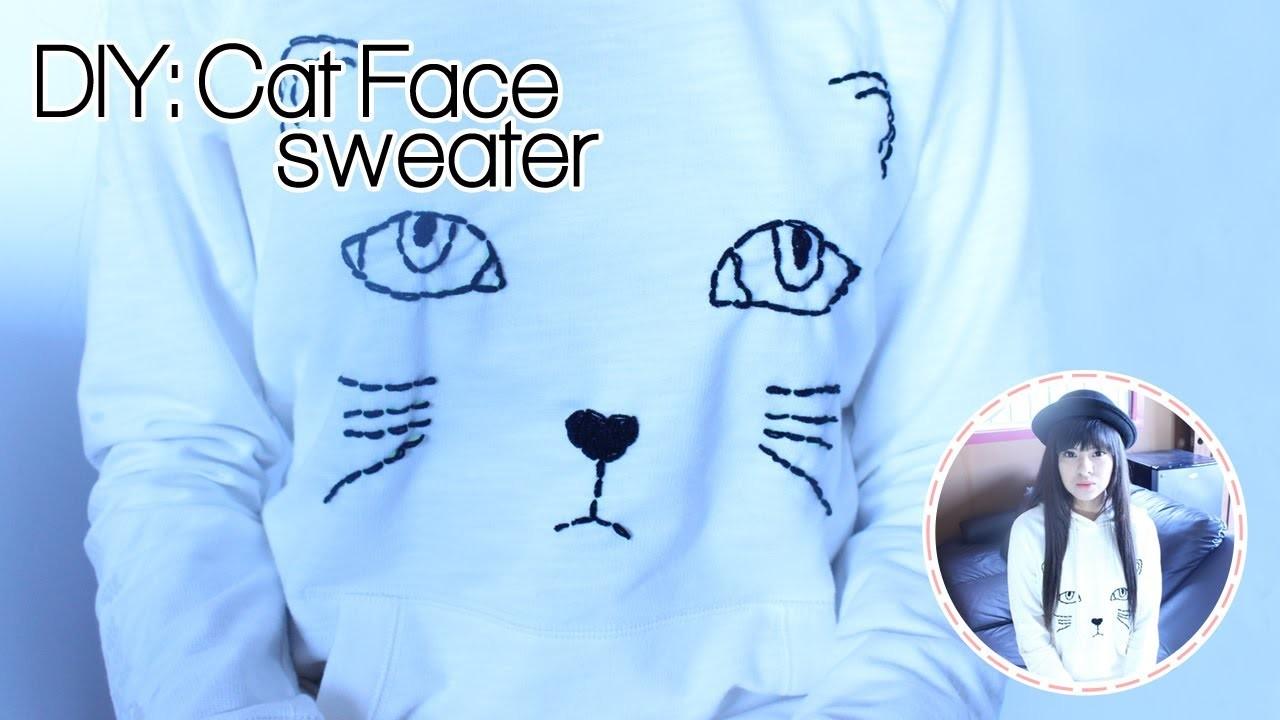 DIY: Cat Face sweater