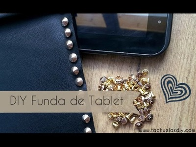 DIY  Funda de tablet hecha a mano sin coser en men