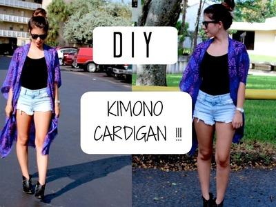 DIY Kimono Cardigan- Cómo hacer un kimono cardigan!   | Jenny Sanchez