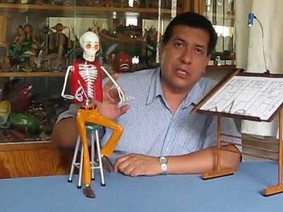 Esqueletos, catrinas, alebrijes, papel maché. Arte Popular Mexicano. SARR Cartonería.