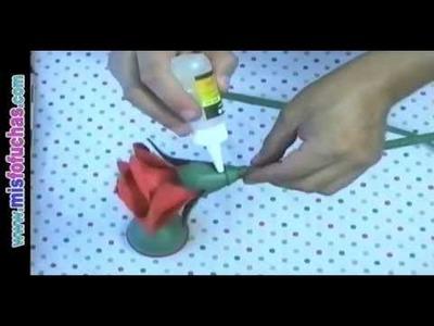 Flores Rosas en foami goma eva Regalo para el día de la madre, amor y amistad, cumpleaños Parte 2