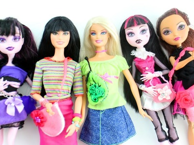 Haz CARTERAS O BOLSAS para tus muñecas - Manualidades para muñecas