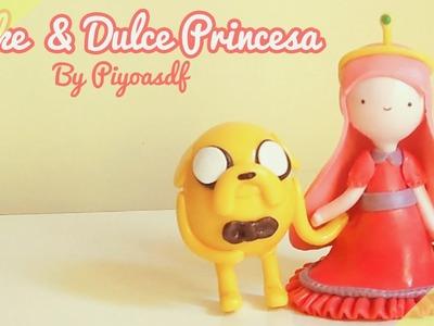 ♡ Jake & Dulce princesa ♡ Tutorial porcelana en frío By Piyoasdf