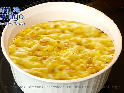 Macarrones con Queso o Macaroni and Cheese Autentica Receta Americana