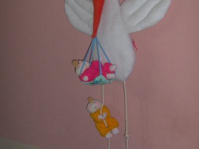 Muñecos soft . Cigueña Con Bebés. proyecto 117