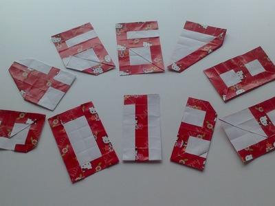 Números en Origami paso a paso (tutorial)