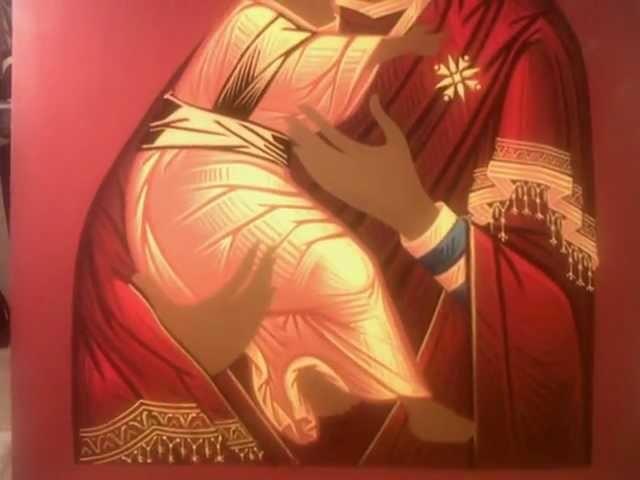 Proceso de pintura deI icono de la Virgen de Vladimir. Febrero - Junio 2011.