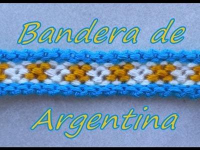 Pulsera de Hilo: Bandera de Argentina