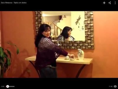 Saco Mariposa - Tejido con dedos - Tejiendo con Laura Cepeda
