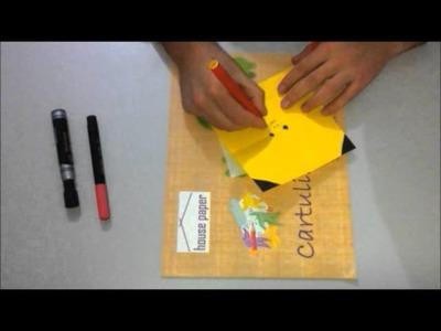 Tutorial como hacer a pikachu de papel origami