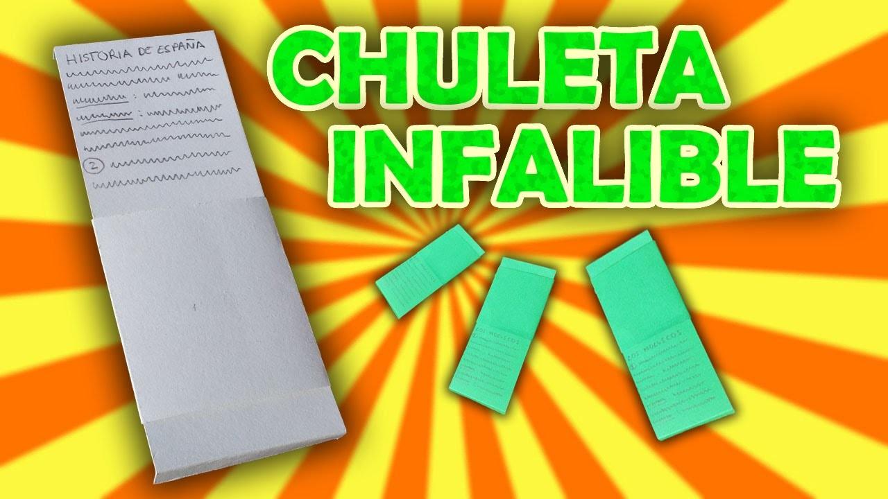 UNA CHULETA QUE NO FALLA. How to cheat on an exam l\.l galvancius