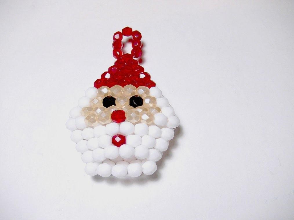 Abalorios Manualidades - Papa Noel para arbol de navidad