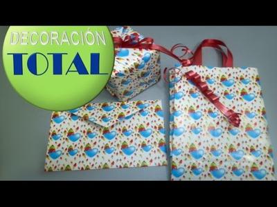 Aprende a hacer una bolsa de regalos tu mismo!!!