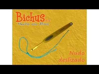 Bichus - Ganchillo Básico 1 : Nudo deslizado para comenzar la cadeneta