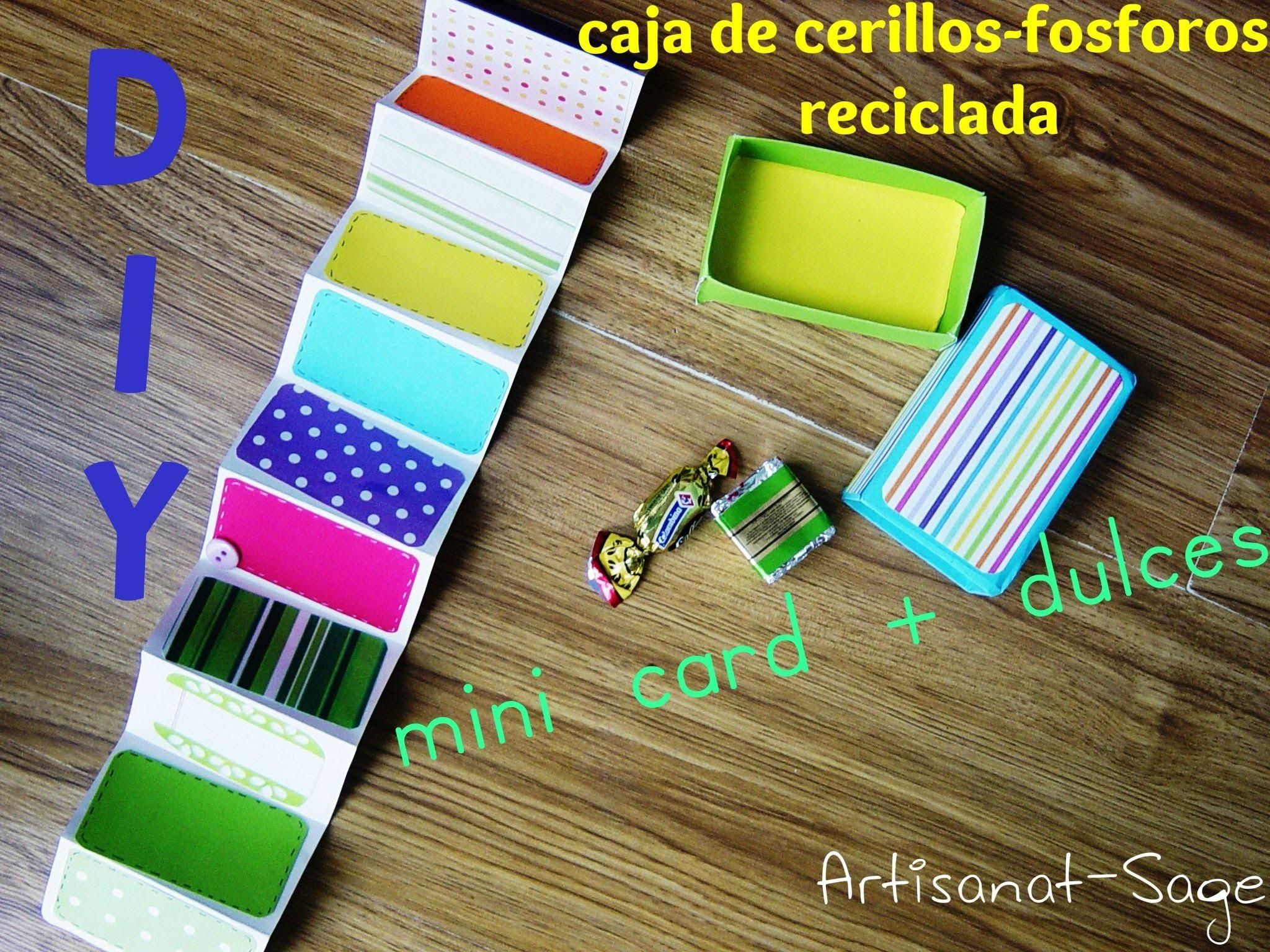 Caja de cerillos reciclada - DIY mini card + dulces (reciclando ando)