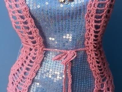 Chaleco Primavera  Azul a Crochet