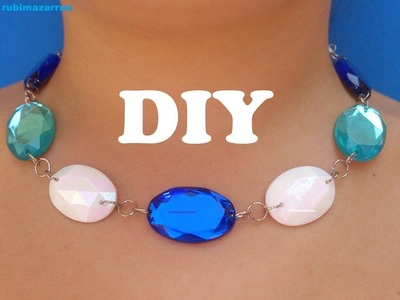 Collar con cristales azules.Necklace