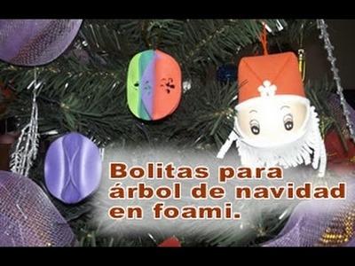 Cómo hacer bolas para el árbol de navidad Bolas en foami para árbol navideño