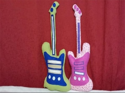 Como hacer cojin de guitarra