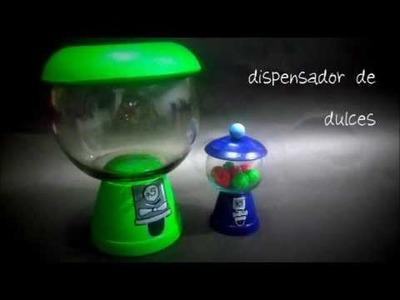 COMO HACER DISPENSADOR DE DULCES DECORATIVO