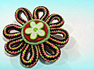Cómo hacer flores con cordones. Laces flowers.