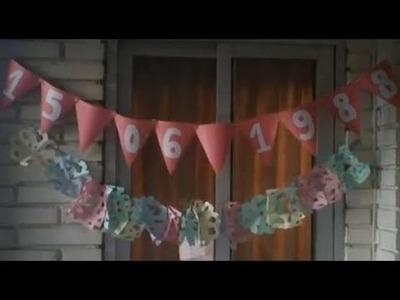 Cómo hacer guirnaldas con banderines | facilisimo.com