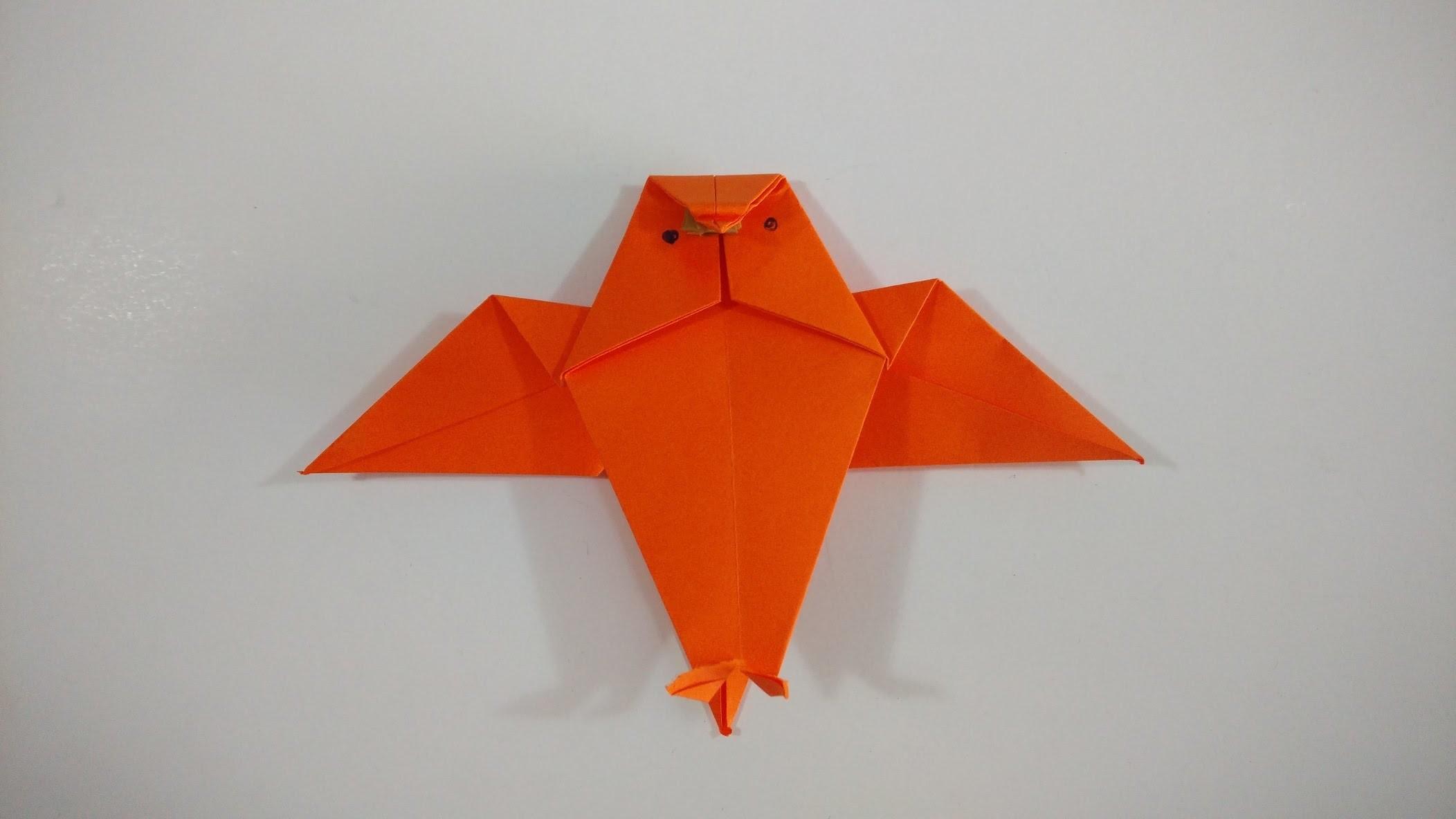 Como hacer un buho de origami