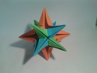Como hacer una estrella de 12 puntas (origami)