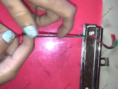 Cómo hacer una pulsera con nudo macramé redondo - Nudos para pulseras