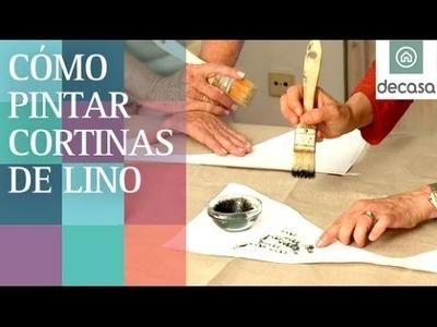 Cómo pintar unas cortinas de lino   Ideas decorativas con Lilla Moreno