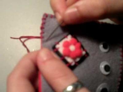 Coser fieltro (punto ojal) (Felt sewing)