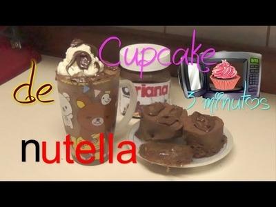 Cupcake de Nutella en el microondas 3 minutos en una taza. Easy Nutella Cupcakes