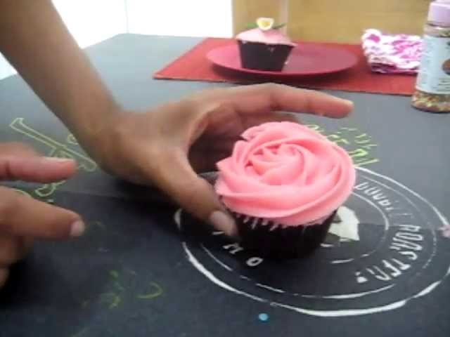 Cupcakes con boquilla 1M de Wilton