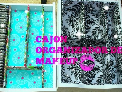 DIY CAJON ORGANIZADOR DE MAKEUP