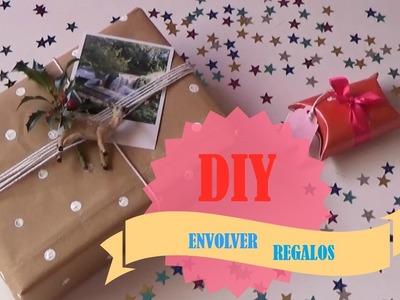 DIY ENVOLVER REGALOS CON MATERIALES DE RECICLAJE A PRECIO LOW COST (Especial Navidad y Cumpleaños
