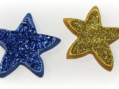 DIY: Estrellas de porexpan. Styrofoam stars.